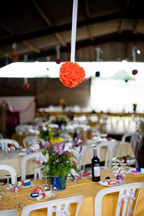 Tissue paper balls by Becky! A truly lovely wedding gift!