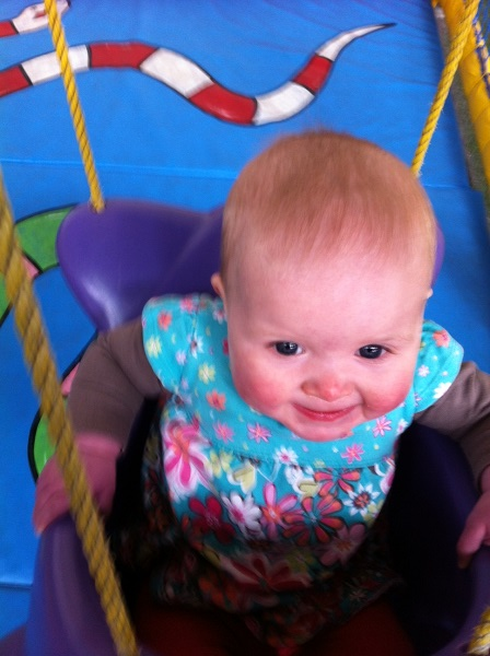 Lizzie at soft play! this is a stock photo but you get the idea, big grins, brightly coloured plastic