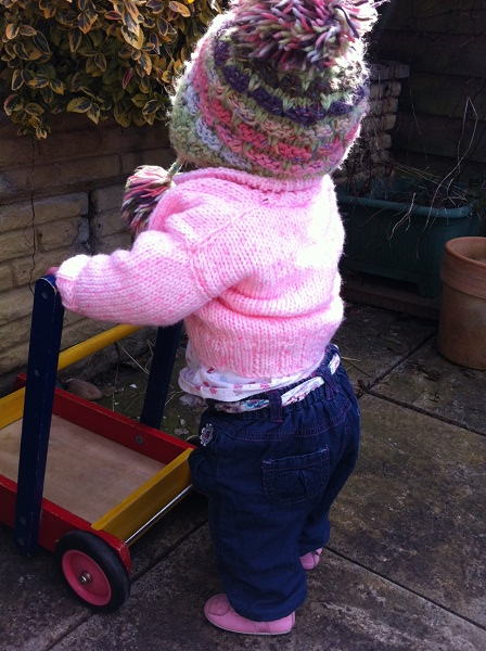 Lizzie's first EVER play outside in the garden
