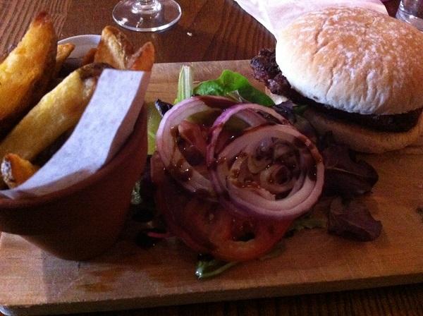 Becksie's lamb burger