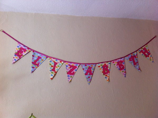 Lizzie's bunting is now up