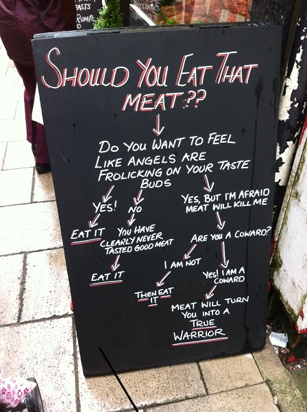 The butchers sign