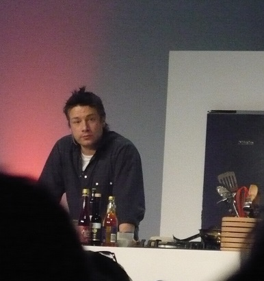 Watching Jamie Oliver cook a few years ago at The Good Food Show