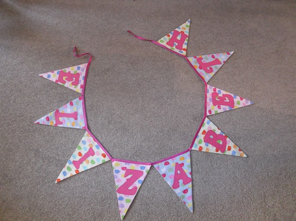 Double sided Name Bunting by Jenny (Jenny will take orders so if your interested please email teampugh@hotmail.co.uk)