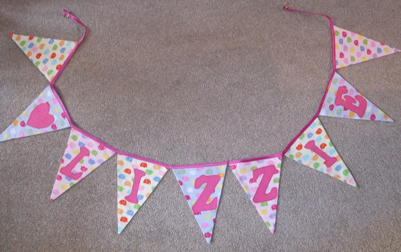 The back of the bunting