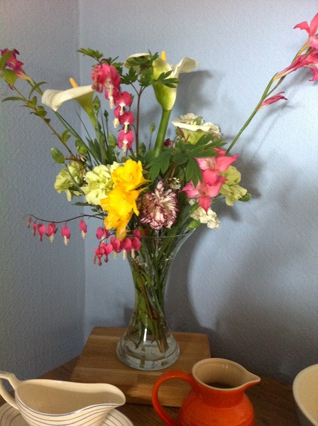 A lovely gift from Grandad Gray - homegrown flowers