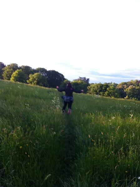 Becksie jumping in the grass #stillachild