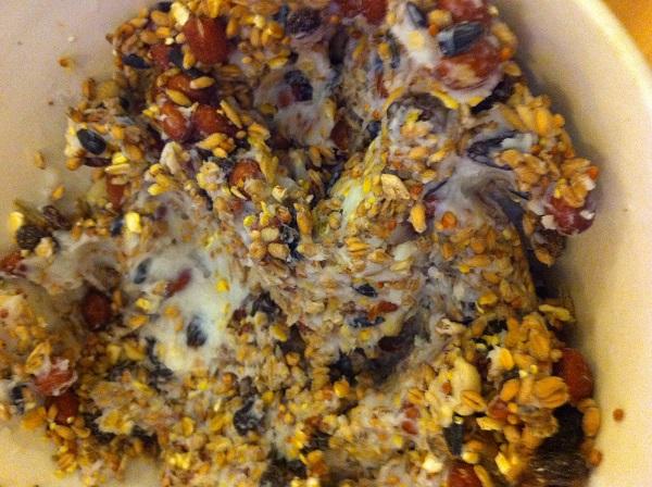 Mix with lard (one cupfull needs about half a block of lard)