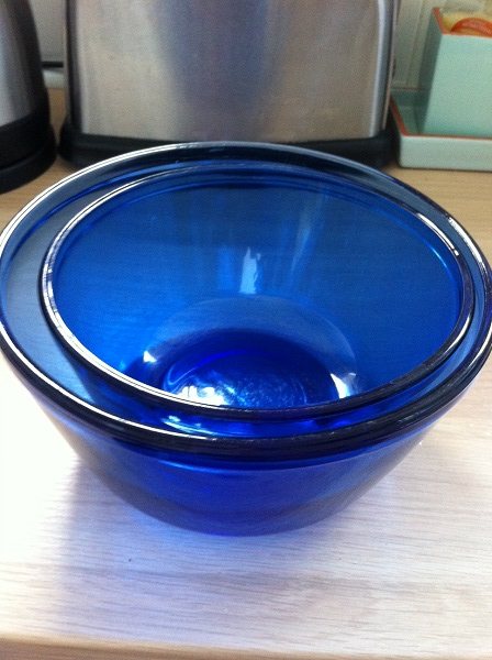 Regular blog featurers - these lovely blue bowls came from a charity shop in Birmingham. There used to be three but someone (IAN) broke it!