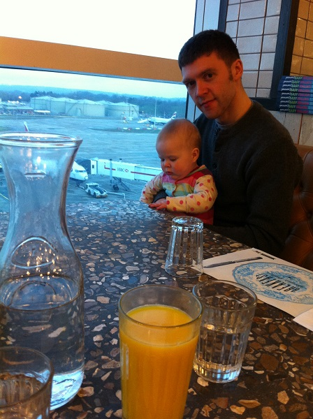 Ready for a 5 am airport fry-up, orange juice at the ready!
