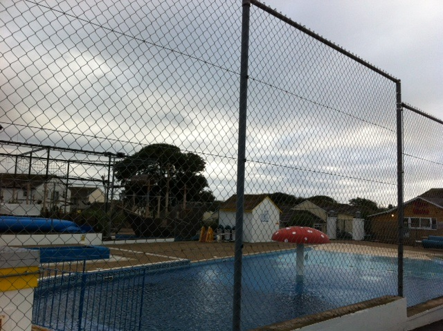 The outdoor pool - it was however a little too cold to use it :(