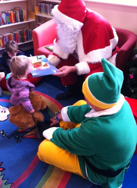 Feeling hopeful after we were so kind to him (and his chief elf at the library)