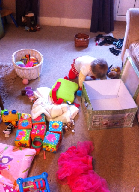 Part one - the downstairs toys making their way upstairs for the audit!
