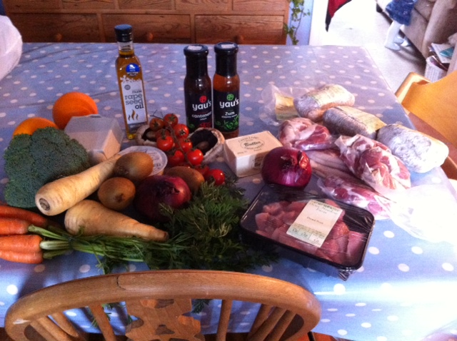 Trip one Faringdon Farmers Market and The Hare in The Woods - total cost £29.80