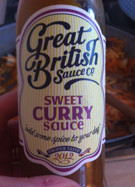 You could add some mild curry powder and some brown sauce instead