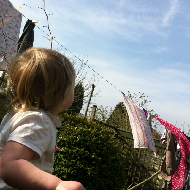 Watching the planes - as the planes left trails Lizzie said they were stretching - what a lovely magical thing to think